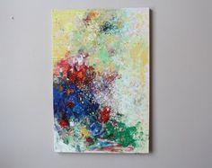 Peinture acrylique, peinture sur toile, peinture, peinture originale, art abstrait coloré, décoration murale, toile art abstrait heun chêne kim