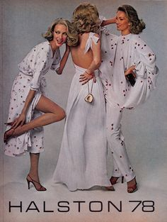 Halston Spring/Summer 1978 US Vogue March 1978