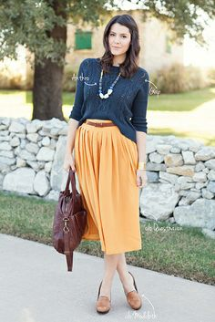 """""""Fancy Errands"""" via Kendi Everyday Orange Skirt, Purple Skirt, Fall Skirts, Red Skirts, Love Her Style, Street Style Looks, Modest Fashion, Everyday Fashion, Passion For Fashion"""