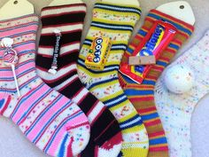 """This is the brand new """"Candy Jar"""" bundle. The candy jar includes: 1 each  of: """"Blow Pop"""", """"Footsie Roll"""", """"Bit-O-Honey"""", """"Dots"""", and """"Jawbreaker""""  sock yarn for a total of 5 full hanks, + a candy themed double drawstring  bag with ori"""