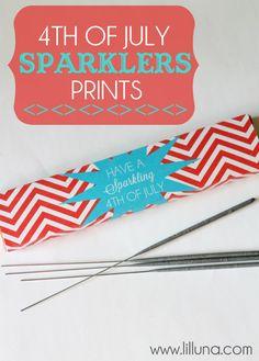 Fourth of July Sparklers Prints on { lilluna.com } #fourthofjuly