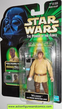 star wars action figures WUHER commtech power of the force 1998 toys moc