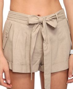 shorts with a bow.