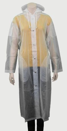 Regenmantel PVC BESS transparent mit Kapuze.