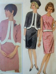 Vintage Butterick 3897 Sewing Pattern, 1960s Suit Pattern, Skirt and Jacket…