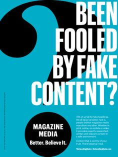 Been fooled by fake content? Content Media, Print Magazine, The Fool, Facts