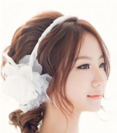 Korean bridal hairstyle #korean #hairstyle #updo