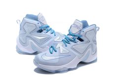 1935ff7f8386 2016-2017 Sale LeBron 13 XIII Christmas Xmas Snow Summit White Light Blue  New Arrival 2016