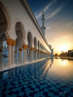 --Grand Sunset-- by Marek Kijevský on 500px.......Sheikh Zayed Grand Mosque, Abu Dhabi, UAE...