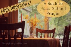 A Homeschool Mother's Prayer- FREE Printable
