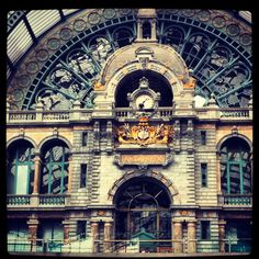 gives the ultimate travel feeling - #central station @ Antwerpen - been there october 2012