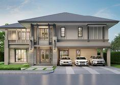 Classic House Exterior, Modern Exterior House Designs, Classic House Design, Modern Architecture House, Modern House Design, House Outside Design, House Front Design, Small House Design, 2 Storey House Design