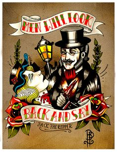 Jack the Ripper Tattoo Flash Print
