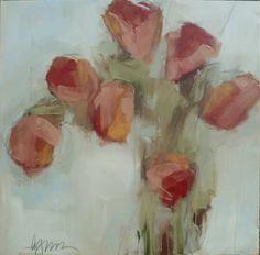 "Lynn Johnson, ""Lucky Number 7"", Oil on Canvas, 40x40 - Anne Irwin Fine Art"