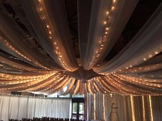 Ceiling treatment and accent wall drape for CHUBB