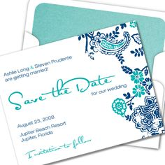 so pretty! could I mail save the dates that warn guests to look for Glo-style e-vites in the future? hmm...