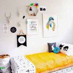the boo and the boy: kids' rooms on instagram. Art and shelf display ideas.