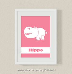 Baby+nursery+print+hippo+safari+print+for+kids+room+by+PinkeeArt,+$13.90