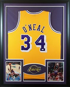 Shaq Shaquille Ou0027 Neal Framed Jersey Signed JSA COA Autographed Los Angeles  Lakers Mister Mancave