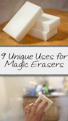 We love it when one cleaning tool can do multiple jobs. Check out these uses for magic erasers!