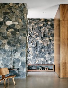 The two basalt layers, meanwhile, showcase American black maple and polished concrete floors.