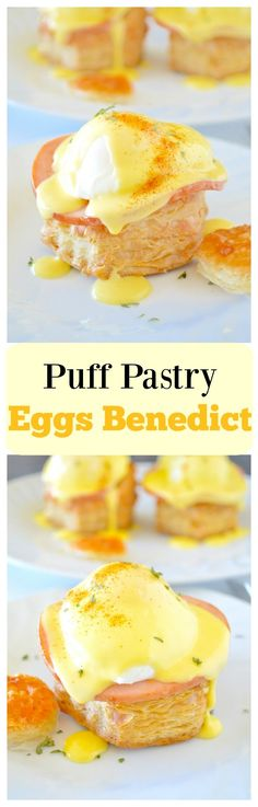 An extra buttery version of an American classic with Julia Child's blender Hollandaise sauce, Canadian bacon and a poached egg! Perfect for brunch! Easy Ham Recipes, Easy Easter Recipes, Easter Dinner Recipes, Brunch Recipes, Breakfast Recipes, Spring Recipes, Delicious Recipes, Yummy Food, Blender Hollandaise