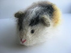 Mohair Guinea Pig OOAK Multicoloured Knitted: What a dream of a little pigger!~ I love it!