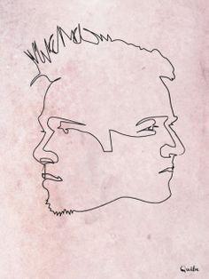 Ilustrações com apenas uma linha - One line drawings