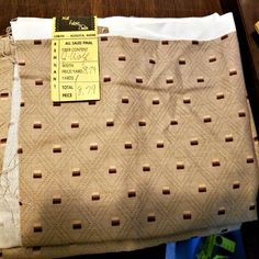 Remnant Fabric +Tan Fabric Panel + Brown Fabric Panel + Upholstery Fabric by JessyeBugsBoutique on Etsy