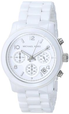 online shopping for Michael Kors Womens Chronograph Runway Watch White from top store. See new offer for Michael Kors Womens Chronograph Runway Watch White White Michael Kors Watch, Michael Kors Runway Watch, Fine Watches, Fossil Watches, Women's Watches, Fashion Watches, Stylish Watches, Beautiful Watches, Quartz Watch
