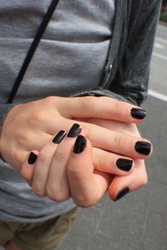 Black nail polish. Like