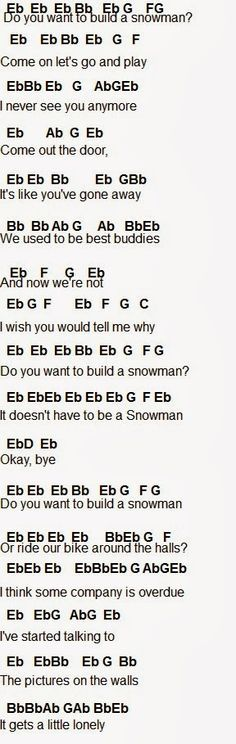 DO YOU WANNA BUILD A SNOWMAN FLUTE SONG