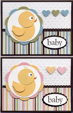 baby card - so clever!