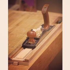 Small parts thicknessing board for kumiko pieces. #woodworking #handplane…