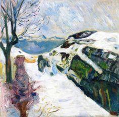 Winter Landscape from Kragerø - Edvard Munch 1910 Norwegian 1863-1944