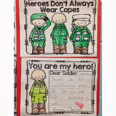 Veterans Day Freebie for Little Learners Fernandez for the kids to send to Andy! Veterans Day Activities, Holiday Activities, Classroom Activities, Preschool Classroom, Classroom Ideas, Kindergarten Social Studies, Teaching Social Studies, Kindergarten Journals, Honor Flight