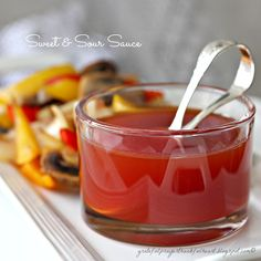 Sweet and Sour Sauce 1/2 cup sugar 1/2 cup ketchup 1/2 cup white vinegar 1/2 cup water (you can substitute pineapple juice for the water, if desired) Whisk all ingredients together in a small saucepan and simmer over medium heat until thickened, stirring occasionally, about 30 minutes.