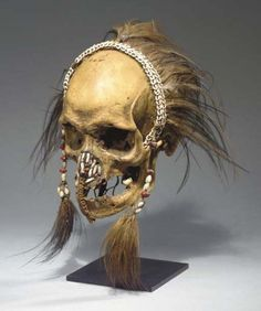 omgthatartifact:  Decorated Skull Asmat Christie's