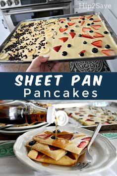 Try Sheet Pan Pancakes as a Genius Breakfast Hack She. Try Sheet Pan Pancakes as a Genius Breakfast Hack Sheet Pan Pancakes Genius Breakfast Recipe dinner recipes for family Comidas Fitness, Breakfast Dishes, Breakfast Pancakes, Gourmet Breakfast, Fluffy Pancakes, Baked Pancakes, German Pancakes, Pancakes In The Oven, Recipes For Breakfast