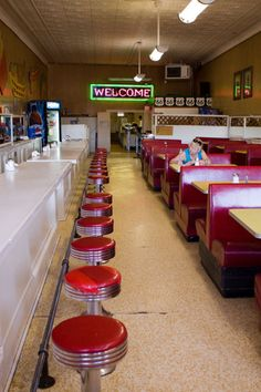 The Eagle Café on Route 66. reminds me of a more run down version on Montague  St.,  in Brooklyn Heights.NYC