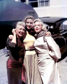 "Lauren Bacall, Marilyn Monroe, and Betty Grable.... Three gorgeous gals who starred in the movie, ""HOW TO MARRY A MILLIONAIRE""   B."