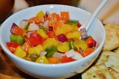 Salsa de Manga ~ Mango Salsa ~ Veganana