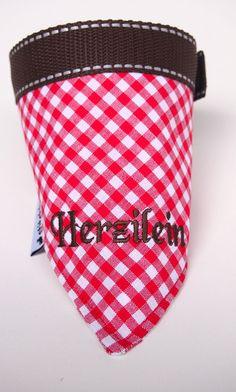 Hund: Halstücher - Halstuch der Serie Bayern Herzilein Oktoberfest - ein Designerstück von stitchbully bei DaWanda