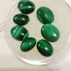 Malachite 100% Natural, Loose Gemstone Cabochon 7 Piece Vintage EstAte Lot  | eBay