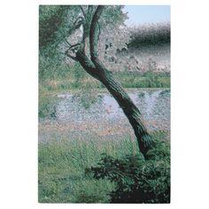 Peaceful Pond Digital Polished Stone Metal Art -nature diy customize sprecial design