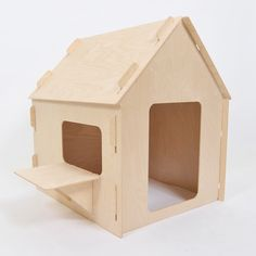 Mod Furniture, Plywood Furniture, Cardboard Crafts, Wood Crafts, Plywood House, Diy Cat Bed, Cute Little Houses, Den Ideas, Wood Toys