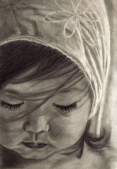 child by mojopina   -  pencils(hb,b, 2b, 8b), 5 hours or so.