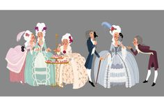 with Marie Antoinette - Erin Kavanagh. Character Concept, Character Art, Concept Art, Character Design Animation, Character Design References, Sketch Design, Design Art, Game Design, Pink Drawing
