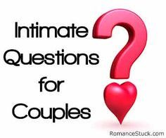 Intimate questions for couples help you get to know each other better on a more intimate level. - https://www.romancestuck.com/intimate-questions-for-couples.htm #RomanceStuck