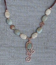 Jasper and copper. Love the pendant. Lima Beads